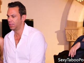 Erotic ginger babe tugs secret taboo dick