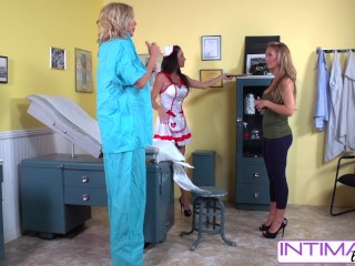 IntimateLesbians - Jessica, Puma and Nicole fucking naughty in the office