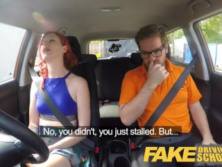 Fake Driving School Instructor creampies hot sexually frustrated redhead
