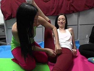 Yoga college lesbians