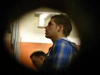 spying at urinals
