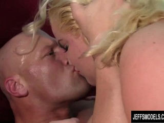 Horny blonde plumper Star Staxxx gets her pussy drilled