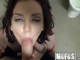 Mofos - Teen gets some action in the bathroom