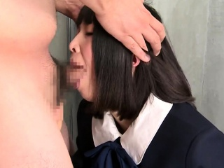 Japanese girl blowjob with cumshot