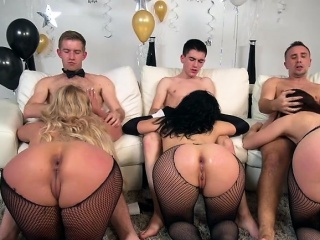 Bombshells Get Demolished By Well Hung Studs