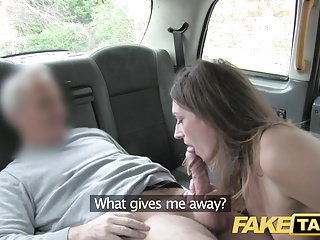 Fake Taxi nice looking blonde rims and fucks the driver