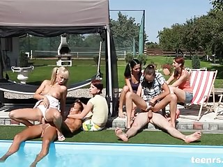 Poolside party sex from Teenrs.com