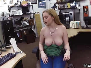 I had her in the back office she was all mine! - XXX Pawn