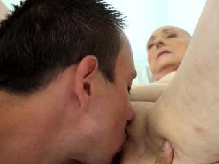 busty granny loves hard dicks