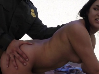 Teen babe caught for fuck
