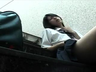 Asian british amateur masturbating in public