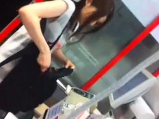 cute lady shopping ups