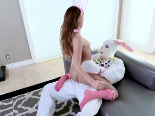 ExxxtraSmall - Hot Easter Bunny Takes A Huge Bunny Cock