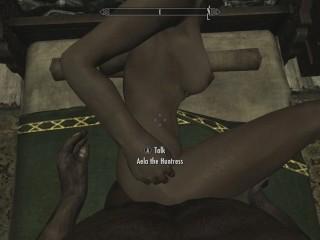 Skyrim - Sex With Aela (Nude)