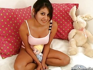 Thick and busty teen gets her ass impaled for the first time
