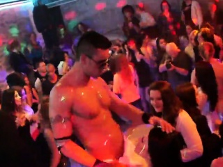 Sexy cuties get completely delirious and undressed at hardco