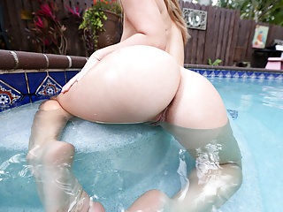 Big ass Eva Lovia Takes Huge Cock By The Pool