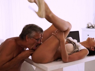 Old man hairy girl Finally she's got her chief dick