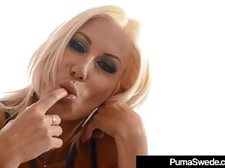 Blonde Amazon Puma Swede Bangs Her Pussy In A Public Diner!