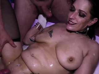 german milf double anal party gangbanged