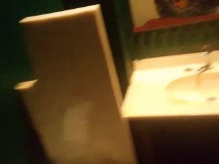 Blowjob in public bathrom