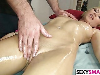 Petite Teen Stacie Andrews Gets Cock Massage