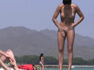 Rousing nude beach voyeur spy cam video