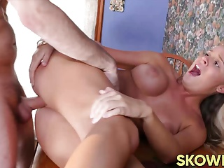 Very cute and busty Alexis Adams getting doggystyle and jizz