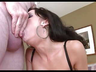 Busty Brunette GdM Sloppy Deepthroat Face Fuck