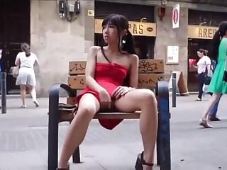lungkondoi young asian girl public flashing  fingering