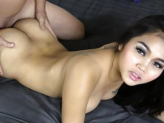 Young Thai cream in her pie