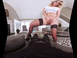 Busty Maid Brooke Wylde Rides Your Dick In POV BaDoinkVR.com