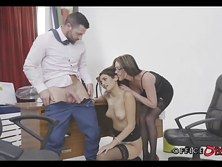 Wild Office Threesome