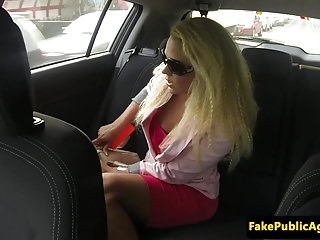 Pickedup euro babe railed and jizzed in a car
