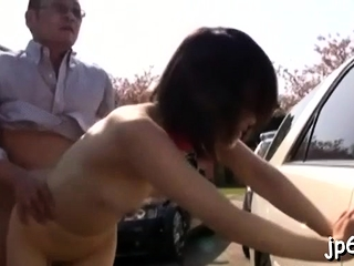 Japanese sweetheart changes her raiment in public