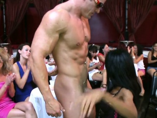 Stripper gets his hard ramrod delighted by sweet playgirl