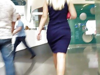 Nice ass in dress go to the mall