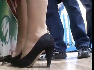 candid heels of gf cummed