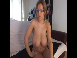 MILF with glasses tittyjob- Add her snapcht: RubySuce