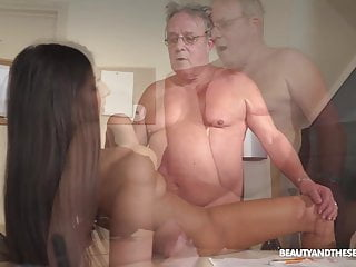 Angela Allison is horny once again so she fucks a senior guy