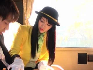 Japanese teen sucks cock in her uniform