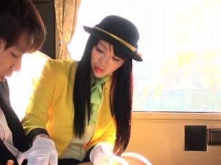 Japanese teen sucks cock in her uniform