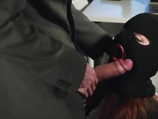 Hooded Slut Gets Exposed and Facialed