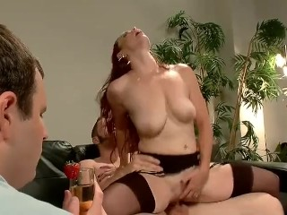 Mistress Red Head Training Cuckold very well
