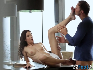 Beauties feet drips cum