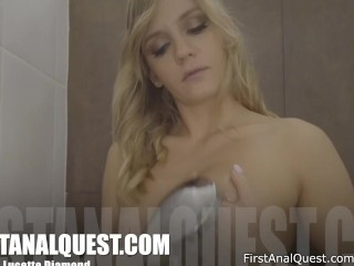 Lucette Diamond gets her anal fucked first time – FirstAnalQuest.com!