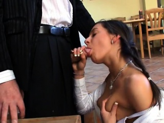 Chick needs to comply with old teacher lustful demands