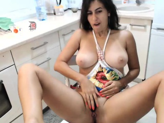 Provoking camgirl with perfect tits and ass sensually touch