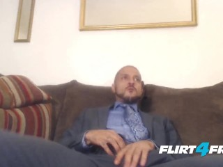 Well Dressed Charlie Westmoreland Has a Business Meeting with His Big Cock
