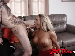 Blonde MILF Teagan James Gets Fucked Hard By a Tattooed Stud